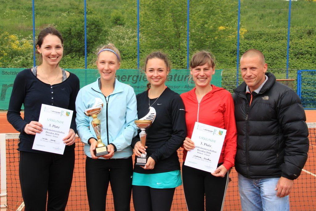 Siegerin und Platzierte der Damenkonkurrenz
